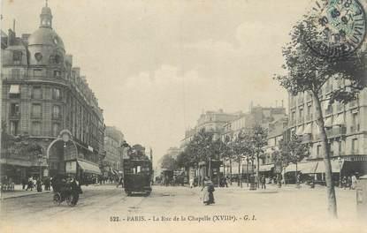 """CPA FRANCE 75 """" Paris 18ème, La Rue de la Chapelle'"""