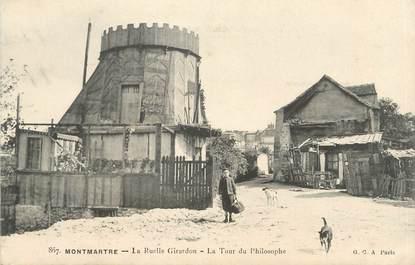 """CPA FRANCE 75 """" Paris 18ème, Montmartre, La ruelle Girardon, la Tour du Philosophe"""""""