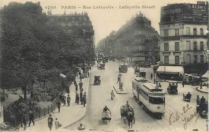 """CPA FRANCE 75 """" Paris 9ème, Rue Lafayette"""" / TRAMWAY"""