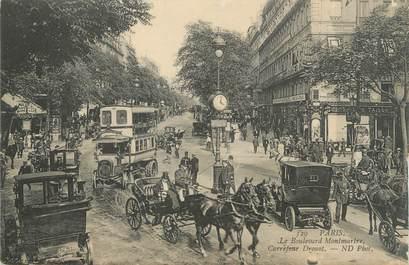 """CPA FRANCE 75 """" Paris 2ème, Le Boulevard Montmartre et le Carrefour Drouot"""""""