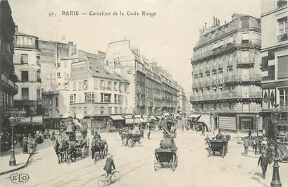 """CPA FRANCE 75 """" Paris 6ème, Carrefour de la Croix Rouge"""""""