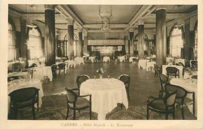"""CPA FRANCE 06 """" Cannes, Le Restaurant de l' Hôtel Majestic"""""""