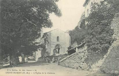 """CPA FRANCE 06 """" St Auban, L'église et le château"""""""