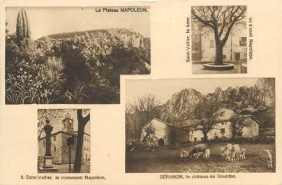 """CPA FRANCE 06 """" Séranon et St Vallier , Vues"""