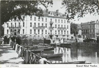 """CPSM FRANCE 74 """" Annecy, Le Lac et le Grand Hôtel Verdun"""""""