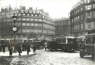 """CPSM FRANCE 75 """" Paris, 1er Embouteillage au Palais Royal"""" / AUTOBUS"""