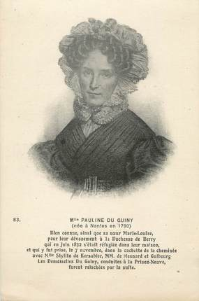 "CPA FRANCE 44 "" Nantes, Pauline du Guiny"""