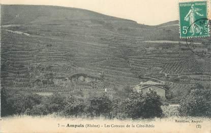 """CPA FRANCE 69 """" Ampuis, Les coteaux de la Côte Rôtie"""""""