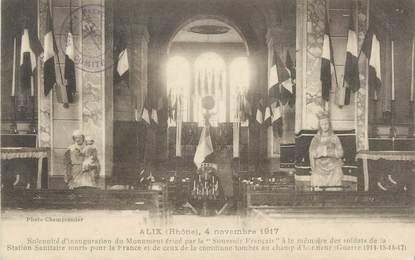 """CPA FRANCE 69 """" Alix, Intérieur de l'église"""""""
