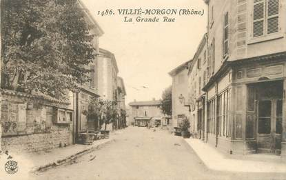 "CPA FRANCE 69 "" Villié Morgon, La Grande Rue"""