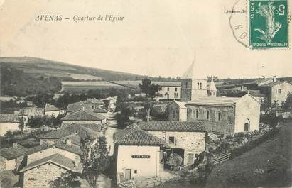 """CPA FRANCE 69 """" Avenas, Quartier de l'église"""""""