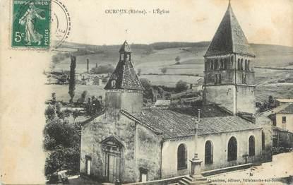 """CPA FRANCE 69 """" Ouroux, L'église"""""""