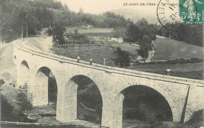 "CPA FRANCE 69 "" St Igny de Vers, Le viaduc"""