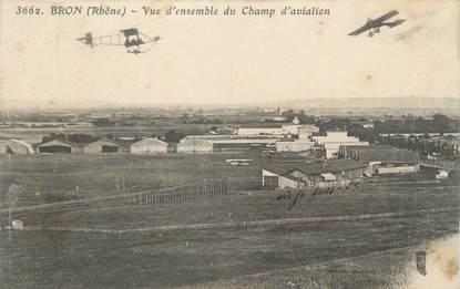 """CPA FRANCE 69 """" Bron, Vue d'ensemble du champ d'aviation"""""""