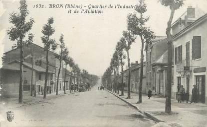 """CPA FRANCE 69 """" Bron, Quartier de l'Industrie et de l'Aviation"""""""