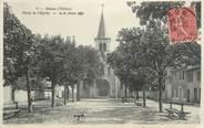 """69 RhÔne CPA FRANCE 69 """" Bron, Place de l'église"""""""