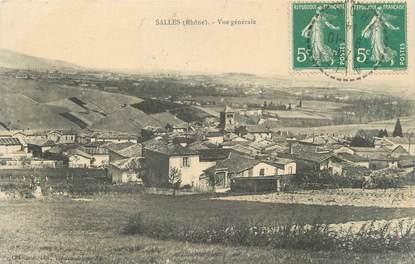 """CPA FRANCE 69 """"Salles,Vue générale"""" / CACHET PERLE"""