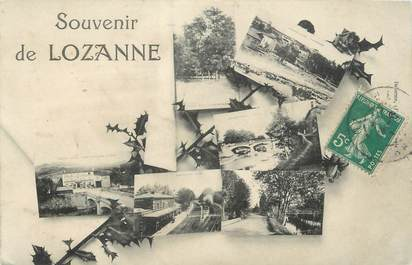 """CPA FRANCE 69 """"Lozanne, Vues"""""""