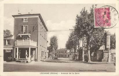 """CPA FRANCE 69 """"Lozanne, Avenue de la Gare"""""""