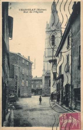 "CPA FRANCE 69 ""Chasselay, Rue de l'église"""
