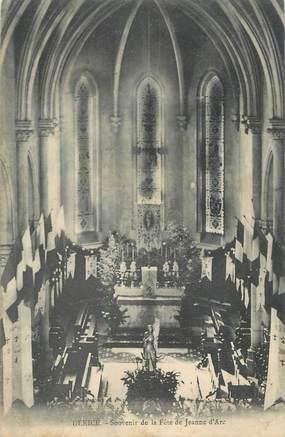 """CPA FRANCE 69 """"Denicé, Intérieur de l'église, souvenir de la Fête de Jeanne d'Arc"""""""