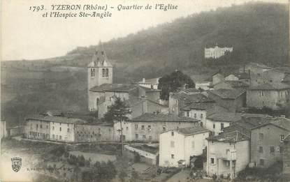 """CPA FRANCE 69 """"Yzeron, Quartier de l'église et Hospice Ste Angèle"""""""