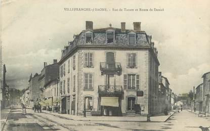 """CPA FRANCE 69 """"Villefranche sur Saône, Rue de Tarare et Route de Denicé"""""""