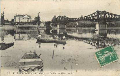 """CPA FRANCE 69 """"Villefranche sur Saône, Le Pont de Frans"""""""