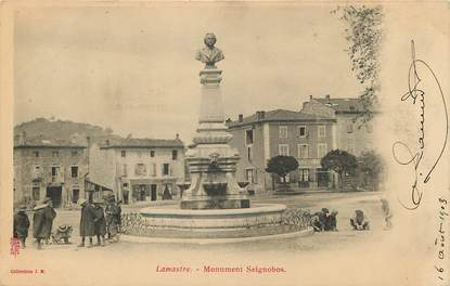 "CPA FRANCE 07 ""Lamastre, monument Seignobos"""
