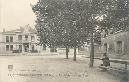 """CPA FRANCE 69 """"Pierre Bénite, La Mairie et la Poste"""""""