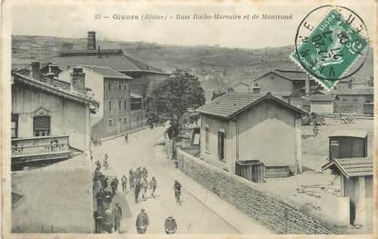 """CPA FRANCE 69 """"Givors, Rues Roche Marcaire et de Montrond"""""""
