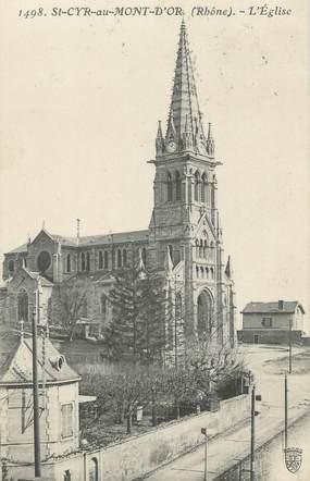"""CPA FRANCE 69 """"St Cyr au Mont d'Or, L'église"""""""