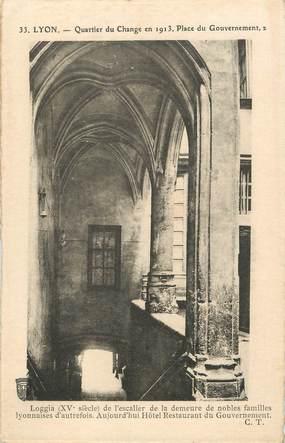 """/ CPA FRANCE 69 """"Lyon, quartier du change en 1913"""""""