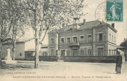 """CPA FRANCE 69 """"St Georges de Reneins, Mairie , Postes et Télégraphes"""""""