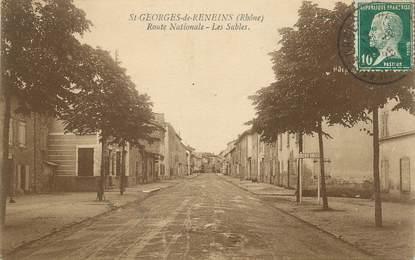 """CPA FRANCE 69 """"St Georges de Reneins, Route Nationale, les Sables"""""""