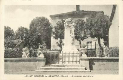 """CPA FRANCE 69 """"St Georges de Reneins, Le monument aux morts"""""""