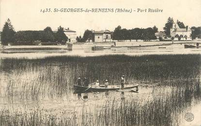 """CPA FRANCE 69 """"St Georges de Reneins, Port Rivière"""""""
