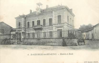 """CPA FRANCE 69 """"St Georges de Reneins, Mairie et Ecole"""""""