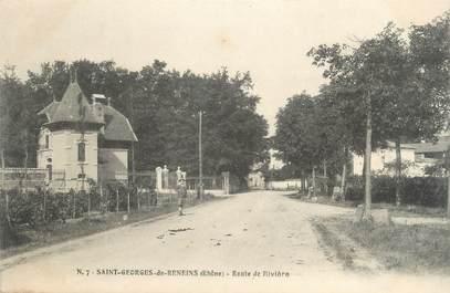 """CPA FRANCE 69 """"St Georges de Reneins, Route de Rivière"""""""