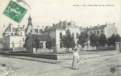 """CPA FRANCE 69 """" Oullins, Ecole et Mairie"""""""