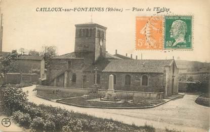 """CPA FRANCE 69 """" Cailloux sur Fontaines , Place de l'église"""""""