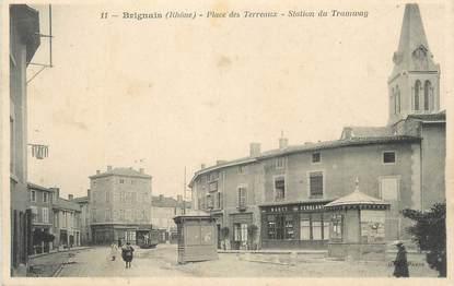 """CPA FRANCE 69 """"Brignais, La place des Terreaux , station du tramway"""""""