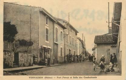 """CPA FRANCE 69 """"Vernaison, Port Perret et salle des combattants"""""""