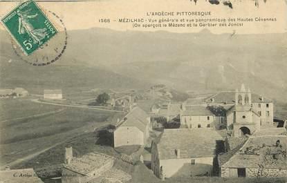 """CPA FRANCE 07 """"Mézilhac, vues générale et panoramique des Hautes Cévennes"""""""