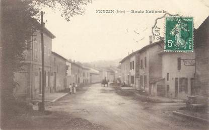 """CPA FRANCE 69 """" Feyzin, Route Nationale"""""""