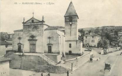 """CPA FRANCE 69 """" Mardore, l'église"""""""