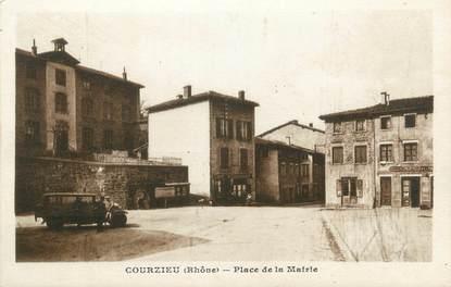 """CPA FRANCE 69 """" Courzieu, Place de la Mairie"""""""