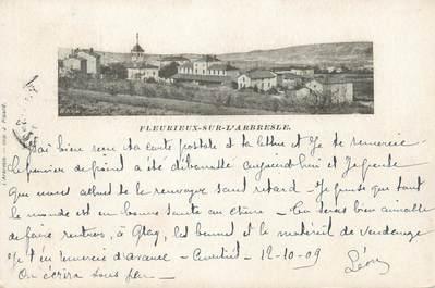 """CPA FRANCE 69 """" Fleurieux sur l'Arbresle, Vue générale"""""""