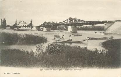 """CPA FRANCE 69 """"Frans, Le pont'"""
