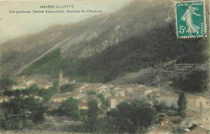 "CPA FRANCE 07 ""Mayres, centre d'excursions, sources de l'Ardèche"""